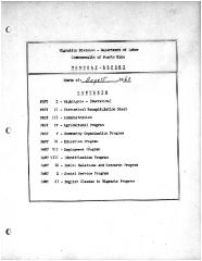 Summary-Monthly Activities Report Aug. 1960