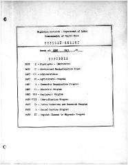 Summary-Monthly Activities Report Aug. 1961