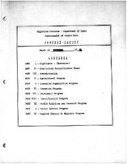 Summary-Monthly Activities Report Dec. 1961