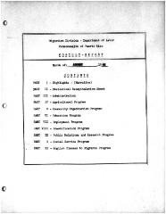 Summary-Monthly Activities Report Aug. 1962