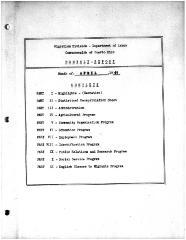 Summary-Monthly Activities Report Apr. 1961