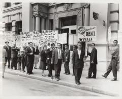 The Puerto Rican Tenants Association protest
