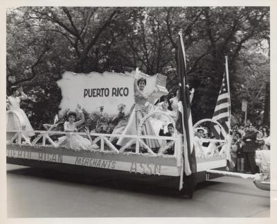 The Puerto Rican Merchants Association Float