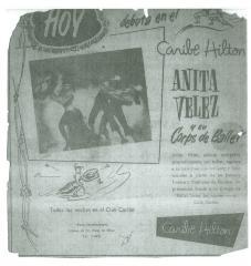 Anita Vélez y su Corps de Ballet