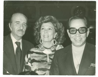 Vélez Mitchell with Cantinflas