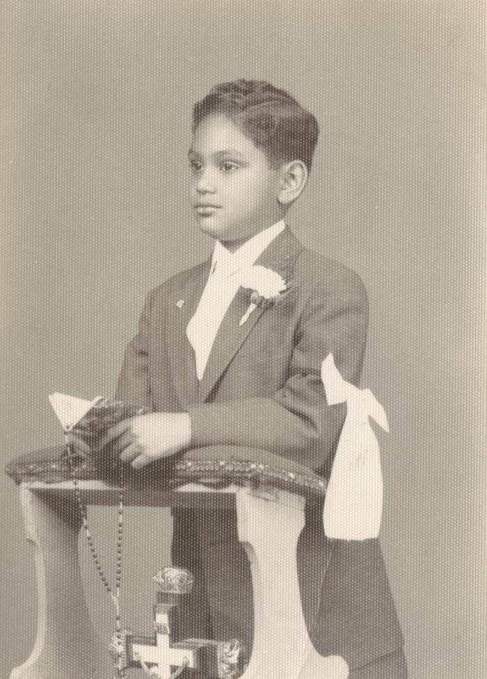 A boy's First Communion
