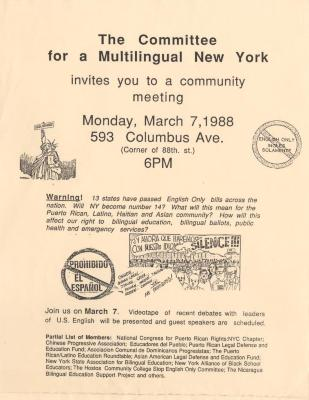 The Committee for a Multilingual New York