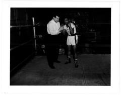 Rafael Tirado in the boxing gym above the Jefferson Theater
