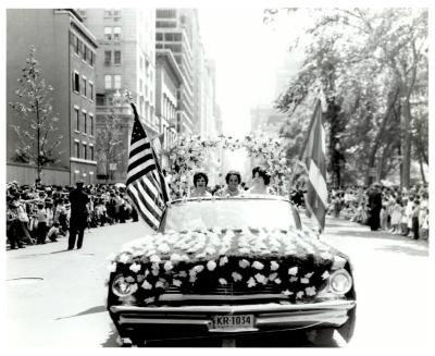 Car Procession During Puerto Rican Day Parade