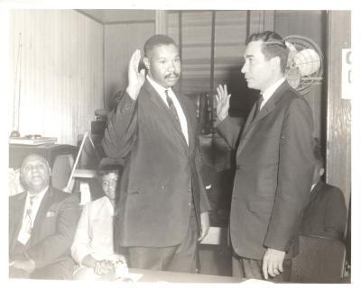 Herman Badillo Being Sworn in By Louis Hernandez