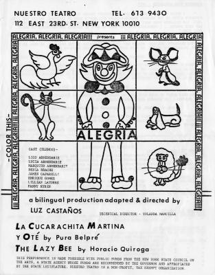 Nuestro Teatro presents Alegria, Alegria, Alegria