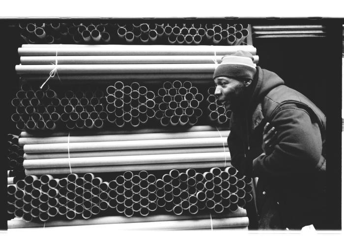 Man at Beck and Kelly Streets