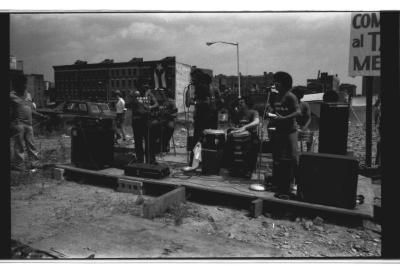 Musicians Playing at Charlotte Street