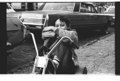 Little boy on his bike on Longwood Avenue