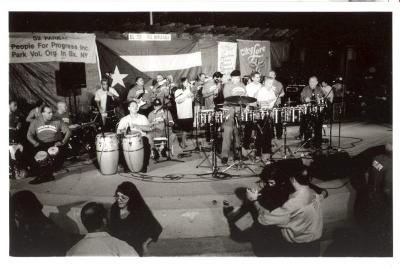 Latin Jazz band playing in the South Bronx