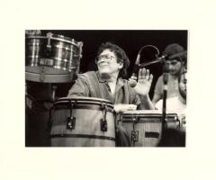 Ray Barretto playing the drums