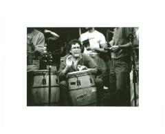 Ray Barretto playing the conga drums