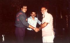 Ray Barretto (left) with others