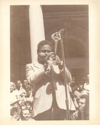 Dizzy Gillespie performing at City Hall