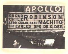 Apollo Theater marquee for Machito and his band