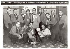 José Curbelo, Tito Puente, and Tito Rodriguez with Curbelo's band