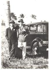 José Curbelo (right) posing with friend