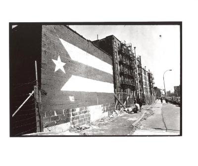 Puerto Rican flag mural in the South Bronx