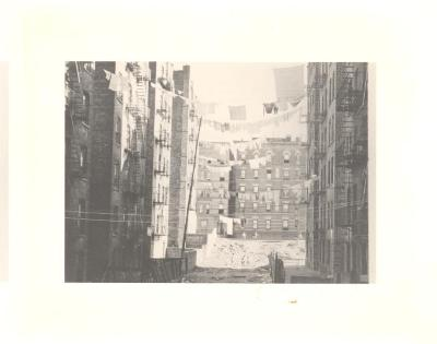 Laundry on clothesline in New York City