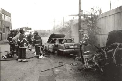 Firefighters in the South Bronx