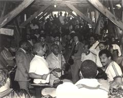 "Frank ""Machito"" Grillo and Tito Puente performing"