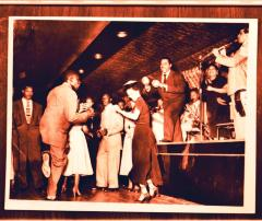 Afro-Cuban musician Machito performing with his band