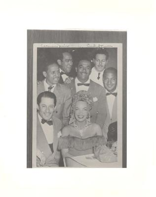 Machito with his orchestra and Carmen Miranda