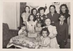 Birthday party for a relative of Juanita Arocho