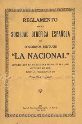 Reglamento de la Sociedad Benefica Española