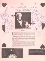"The Celia Cruz-Tito Puente Show ""Tropical Nights"""