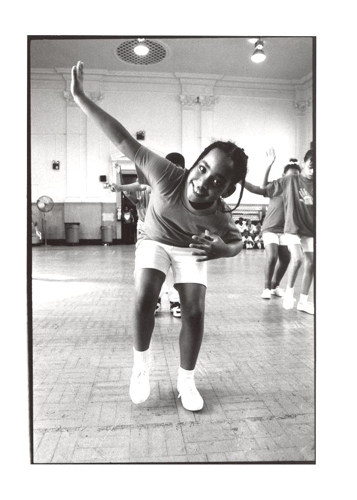 Step dancer at the Police Athletic League