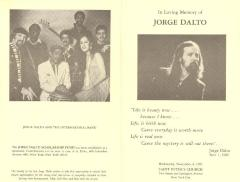 In Loving Memory of Jorge Dalto