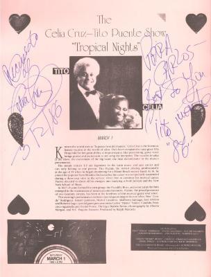"The Celia Cruz-Tito Puente Show ""Tropical Nights"""