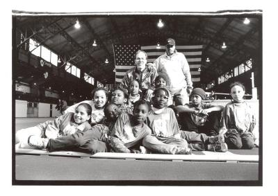 Group of kids at the Police Athletic League