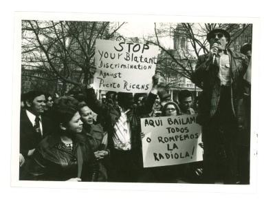 Puerto Rican Protest Against Discrimination