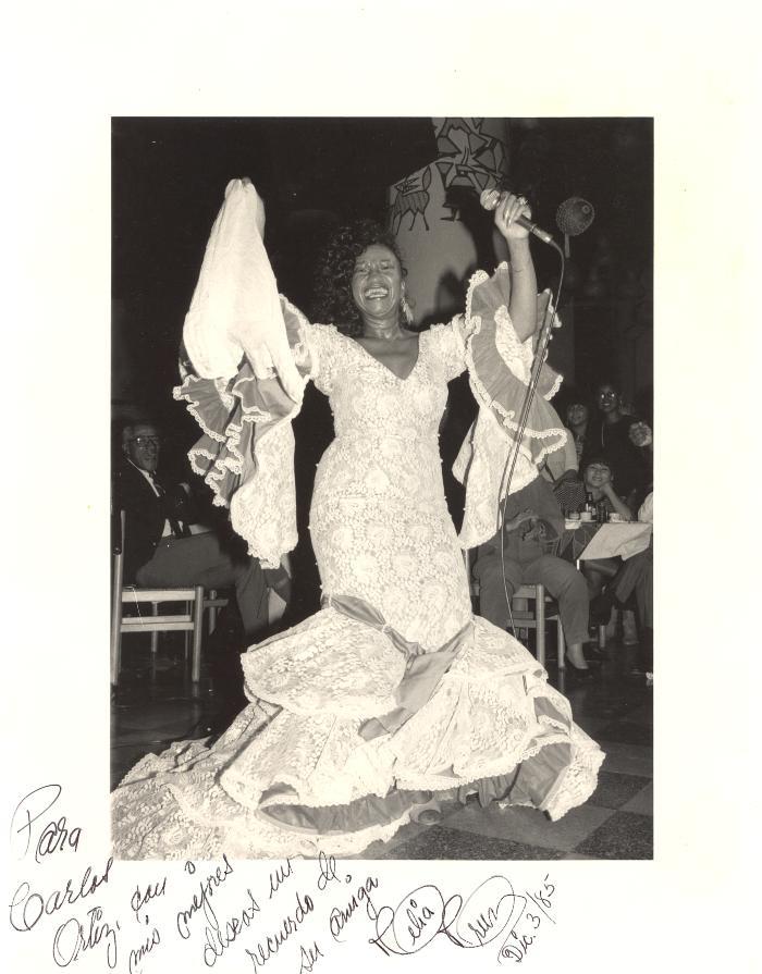 Celia Cruz in performance