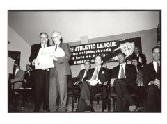 Rudy Giuliani with the Police Athletic League