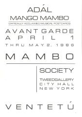 Avant Garde Mambo Society Exhibit program