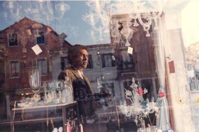 Self-Portrait in Window