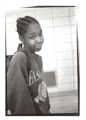 Young girl at the Police Athletic League
