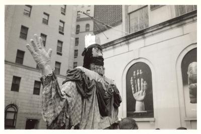Papier-mache statue