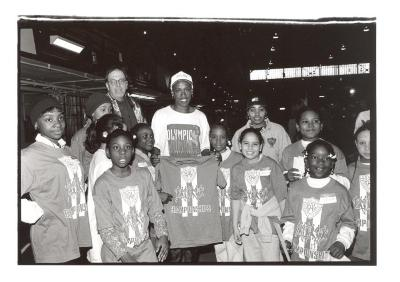 Kids at the Police Athletic League