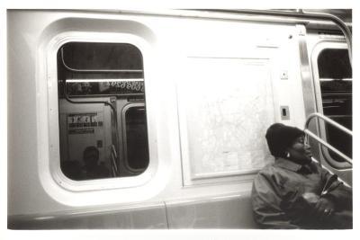 New York City subway rider