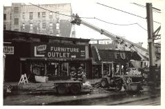 South Bronx building after fire