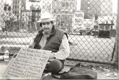 Homeless man on New York City streets